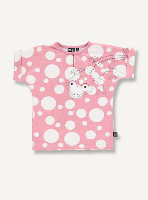 Camelion tee - blush dot - STOCK SALE
