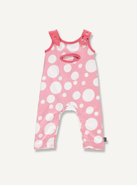 Baby overall - Blush dot - STOCK SALE