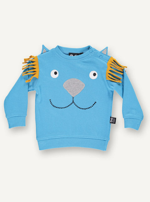 Lion Baby Tee l/s - Horizon Blue