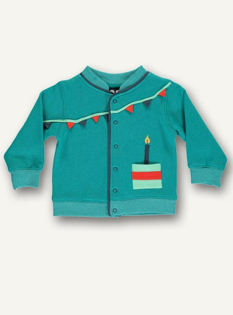 Baby celebration jacket - Blue grass - STOCK SALE