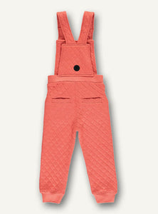 Quilted overall- Dark peach - STOCK SALE