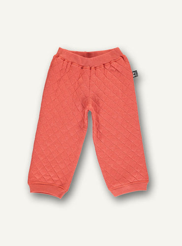 Quilt baby pants - varm orange - STOCK SALE