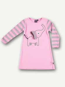 Elephant Nightie L/S  - Sleepy Pink - STOCK SALE