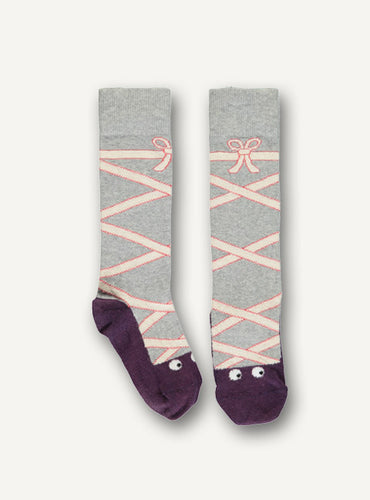 Ballet sock - grey - STOCK SALE