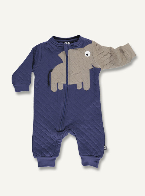 Elephant Quilt Suit - Navy - STOCK SALE