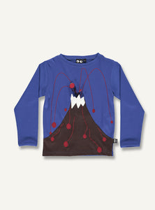 Vulcano tee  blue - STOCK SALE