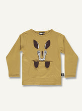 Load image into Gallery viewer, Kangaroo tee -golden brown - STOCK SALE