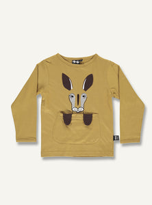 Kangaroo tee -golden brown - STOCK SALE