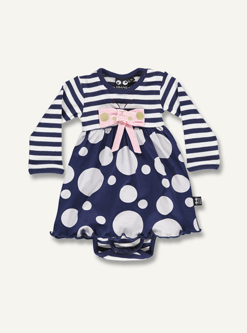 Butterfly Baby dot body l/s - STOCK SALE
