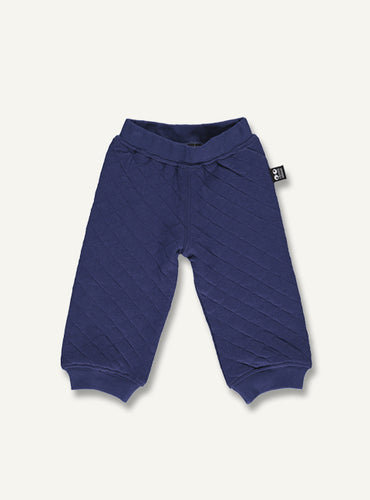 Quilt baby pants - dark blue - STOCK SALE