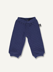 Quilt baby pants - grey melange - STOCK SALE