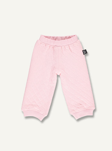 Quilt baby pants - pink - STOCK SALE
