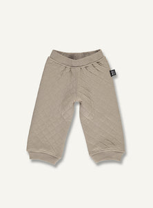 Quilt baby pants - timer brown - STOCK SALE