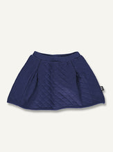 Load image into Gallery viewer, Quilt skirt - Dark indogo blue