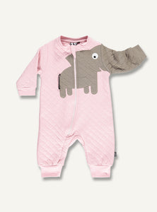 Elephant Quilt Suit - Light Pink - STOCK SALE