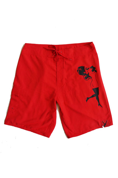 Men's Classic Swim Trunks, Lay Down Femlin