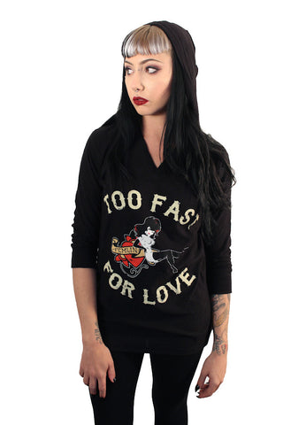 Too Fast for Love 3/4 Sleeve Tee