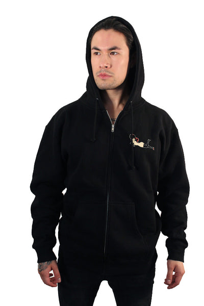 Hell on Wheels Black Zip-Up Hoodie