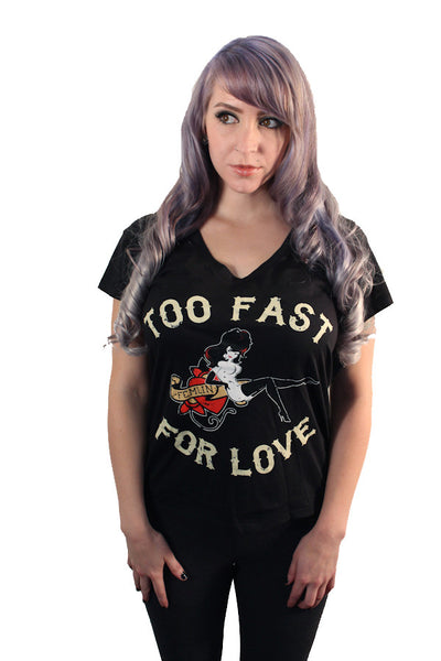 Too Fast for Love Scoop Neck Tee