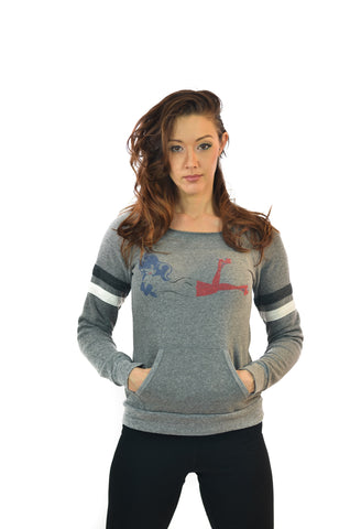Women's Grey Roller Girl Sweat Top