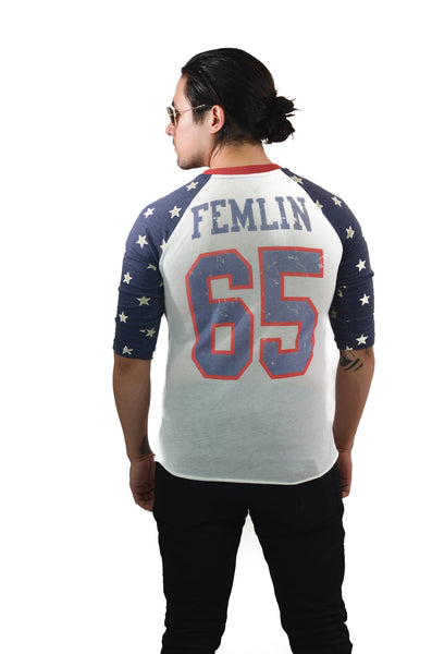 Men's 3/4 Sleeve Roller Girl Tee
