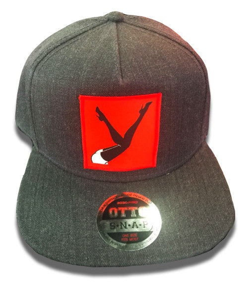 Dark Grey Hat Red Legs in the Air Patch