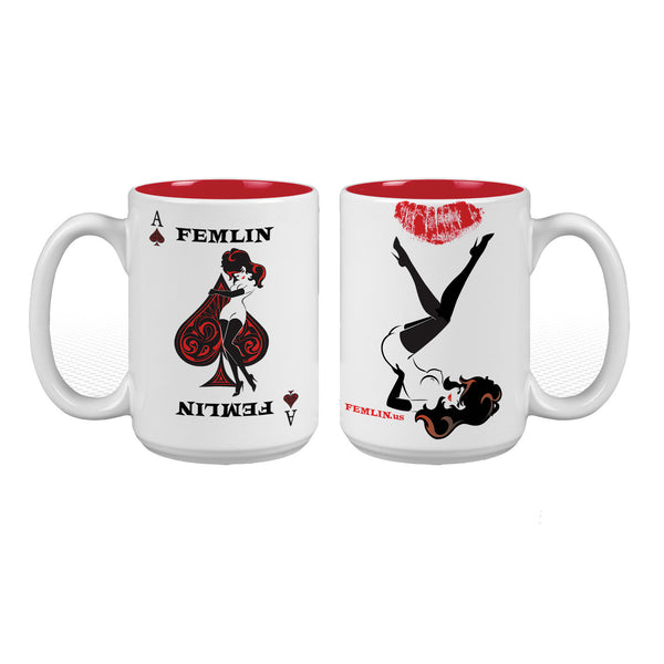 Femlin Poker Card Mug