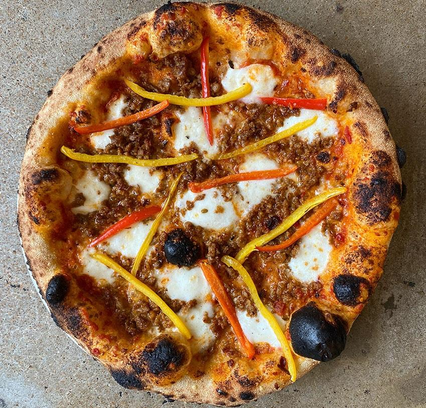 TWO (2) WOOD FIRED FROZEN FIAMA SAUSAGE & PEPPER PIZZAS