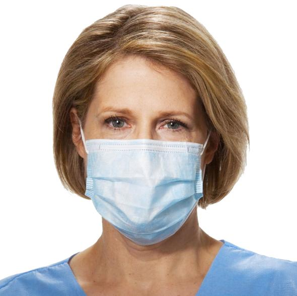 50 Masks • Disposable Hospital Grade Face Masks - Blue - Nexbo