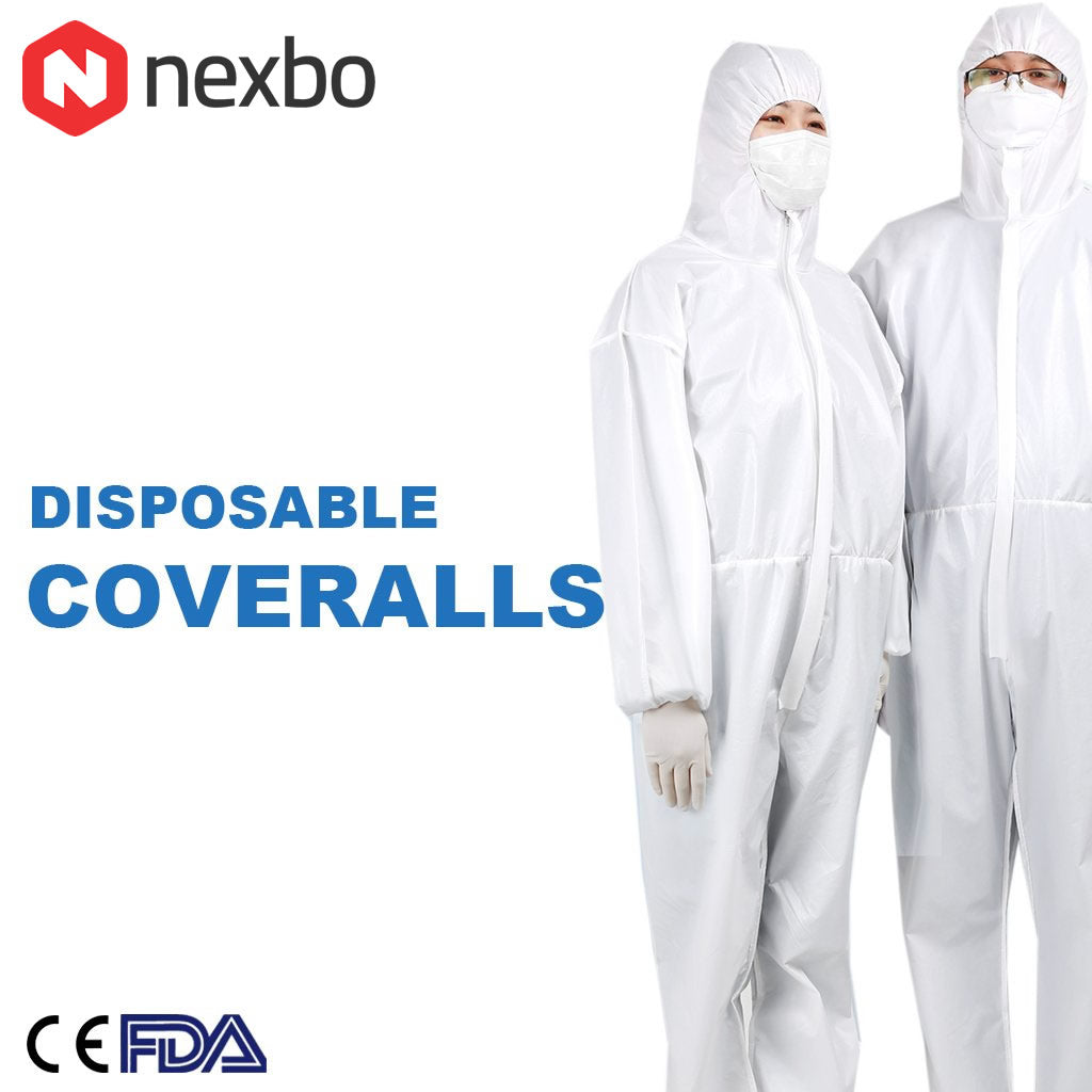 15 Disposable Protective Coverall Medical Isolation Gown Suit (Pack of 15) - Nexbo