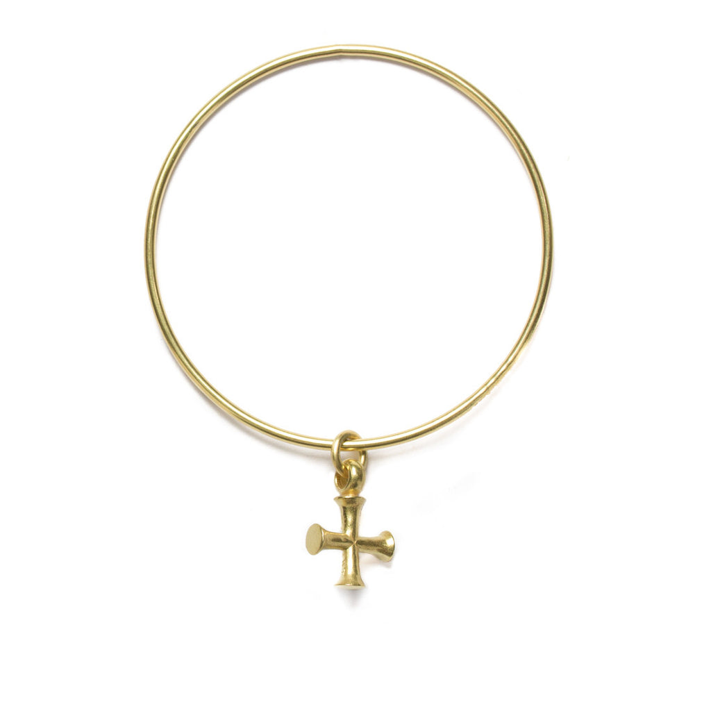 Byzantine Cross charm bangle