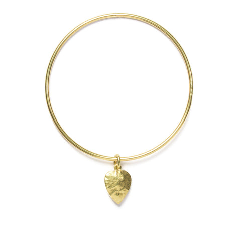 Treasure Heart charm bangle