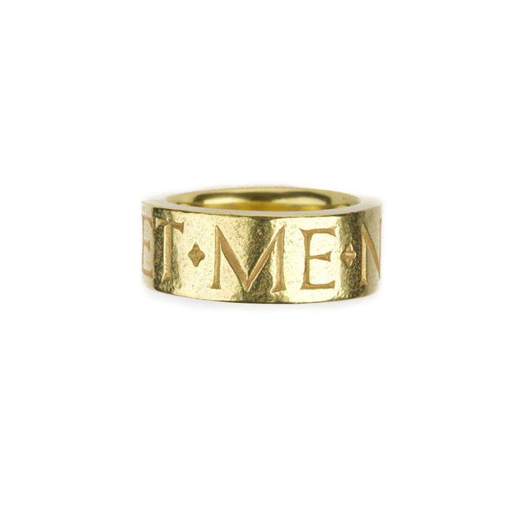 Forget Me Not inscription ring