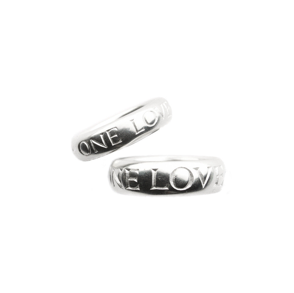 One Love inscription ring