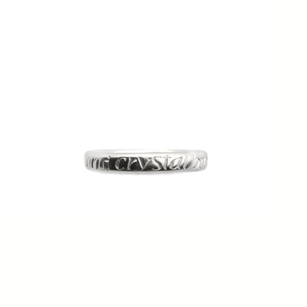 Of Golden Sands inscription ring