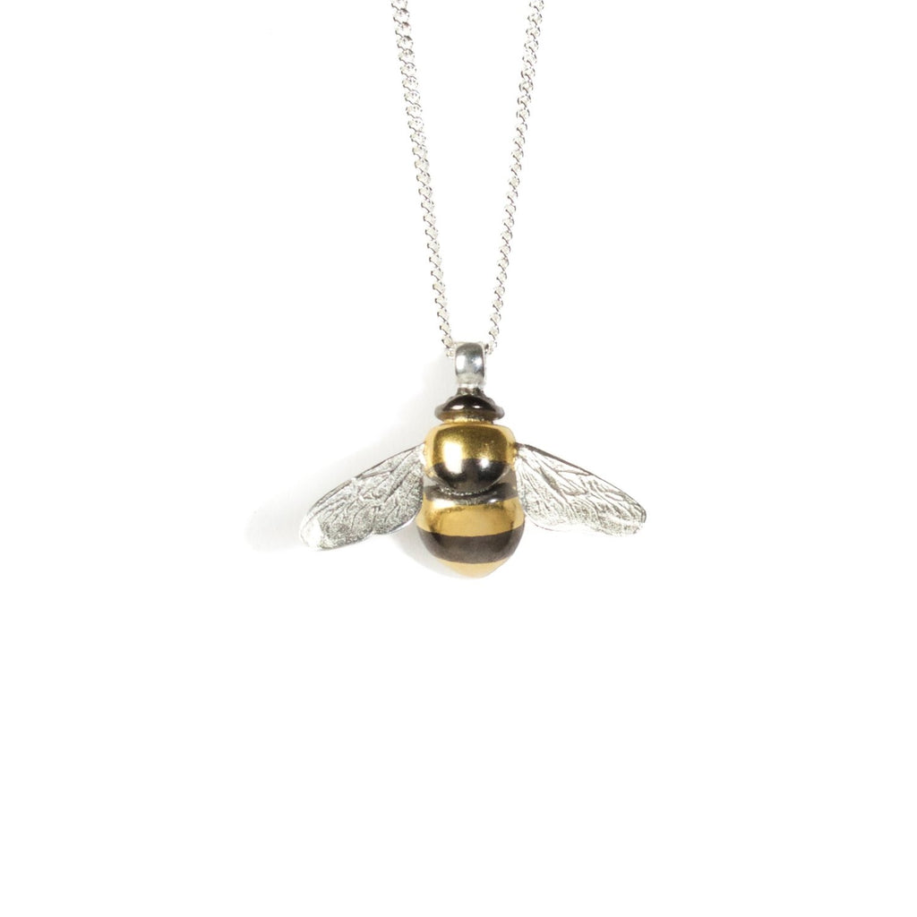 Bee striped necklace