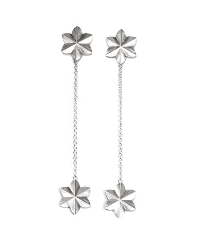 Stella Flower double drop stud earrings