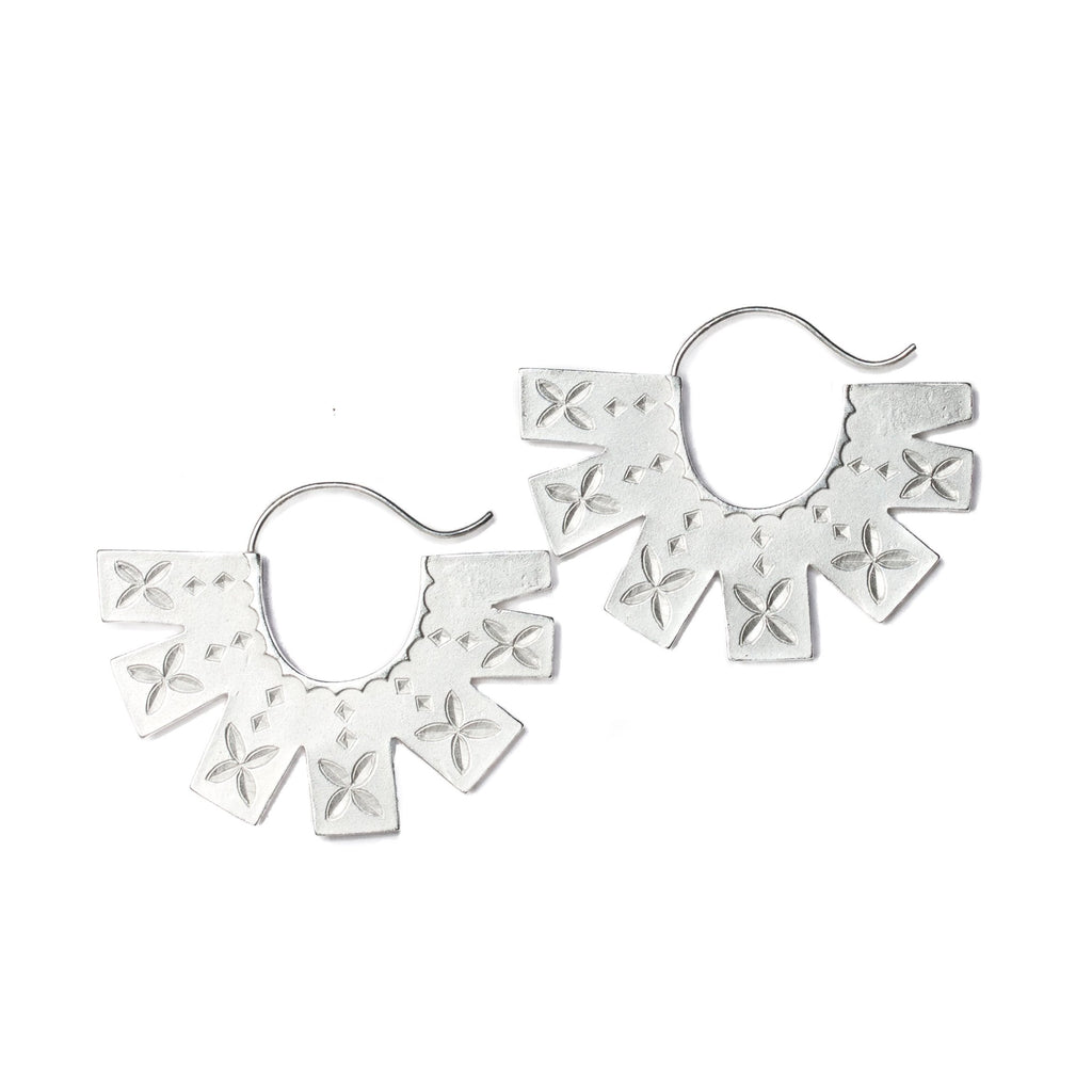 Starburst hoop earrings