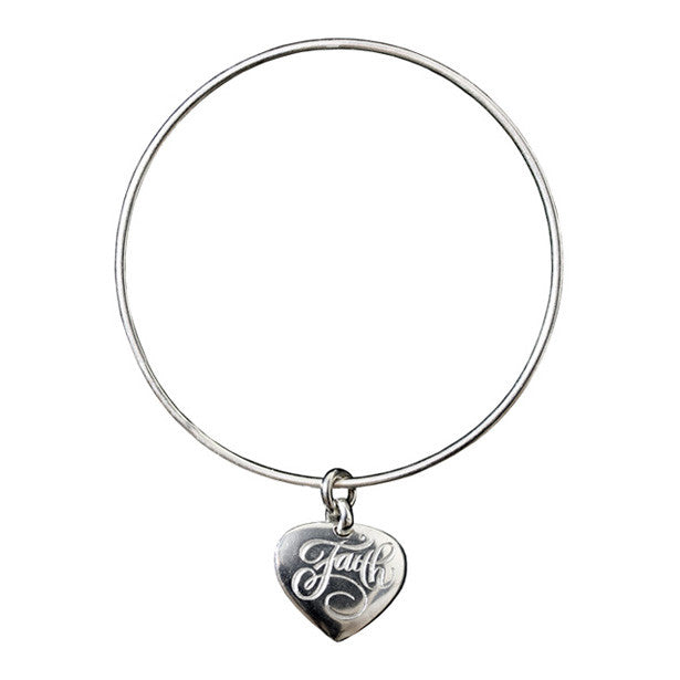 Faith charm bangle