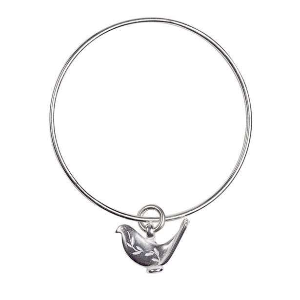 Paloma charm bangle