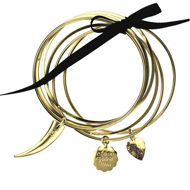 Gala bangles with Congo, Treasure Heart and Amor Vincit Om