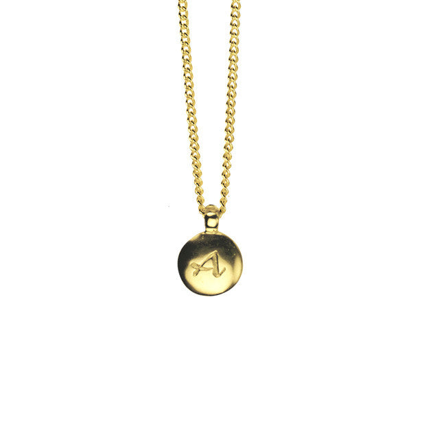 Alpha charm necklace