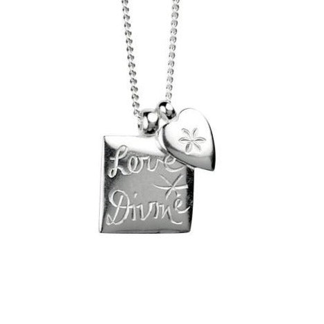 Love Divine and Flower Heart necklace