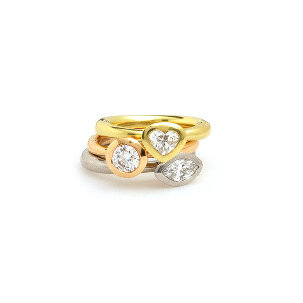 Triology Delphi diamond stacking rings