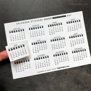 Calendar stickers STYLE 01 - French/Français