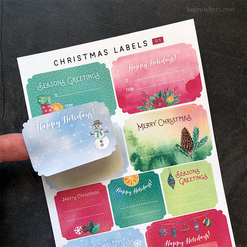 Christmas Labels 01