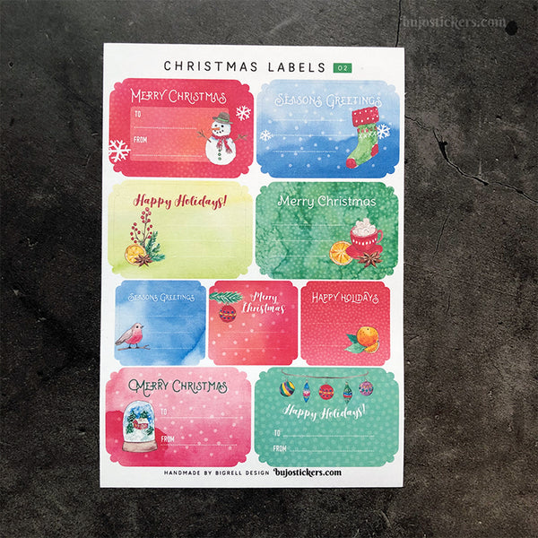 Christmas Labels 02