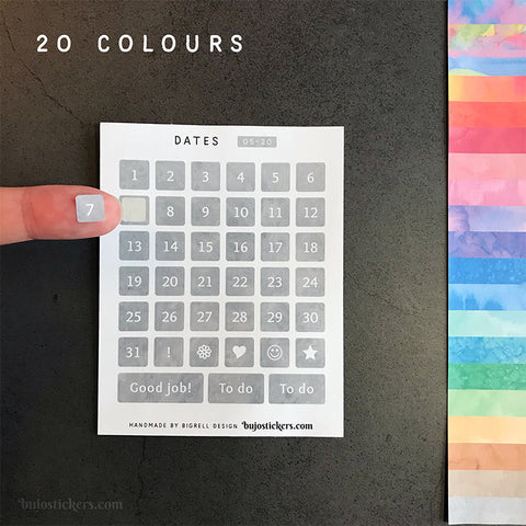 Dates 05 – 20 colours