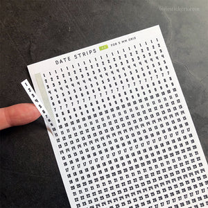 Date Strips 08 – For 5 mm grid