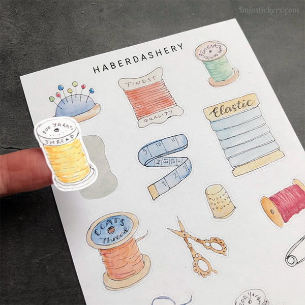 Haberdashery stickers